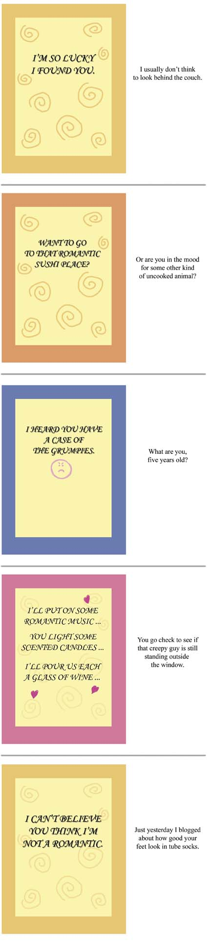 Rejected Greeting Cards Words And Toons