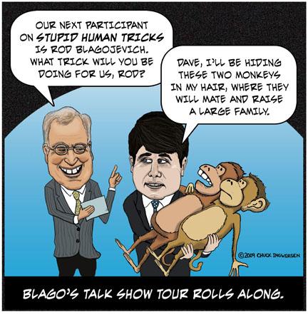 blagojevich cartoon. cartoon of Rod Blagojevich